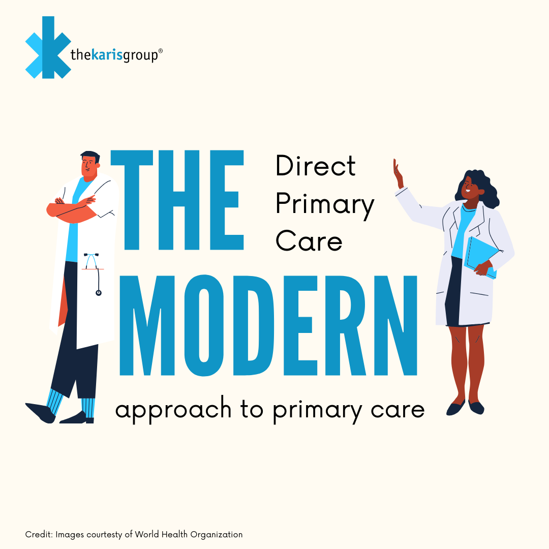 Direct Primary Care Graphic with Cartoon Doctors
